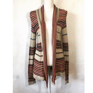 Billabong Multicolor Striped Open Cardigan